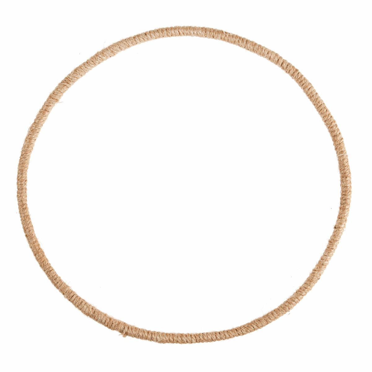 Picture of Wreath Base: Jute Wrapped Wire: 25cm/9.8in