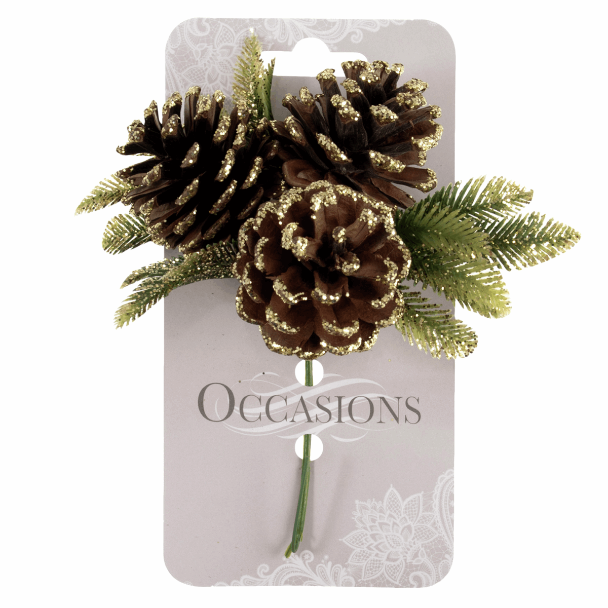 Picture of Pick: Gold Glitter Pinecone Spray: 1 Piece