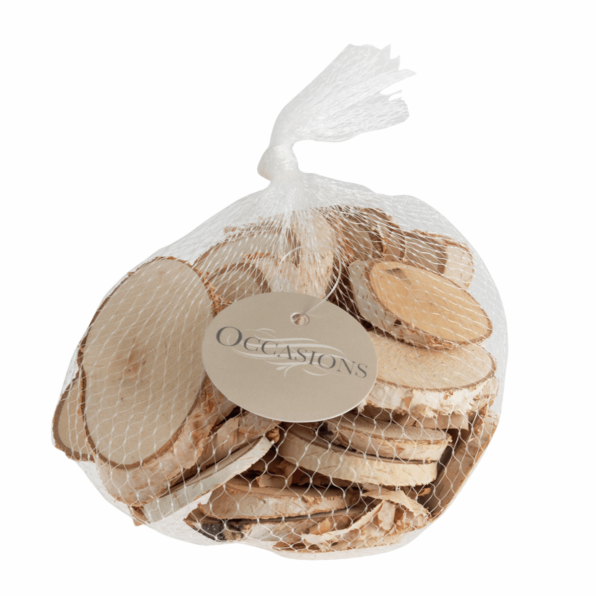 Picture of Wooden Slices: Oval: Medium 5-7cm: 200g