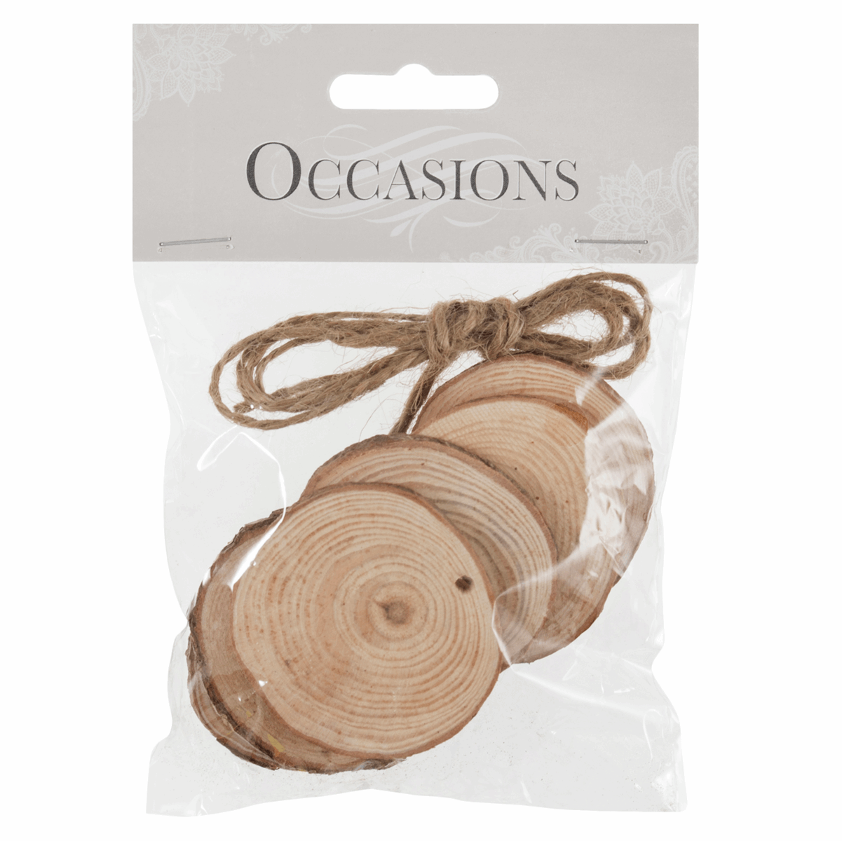 Picture of Wooden Slices: Hanging: Round: Small: 6 Pieces