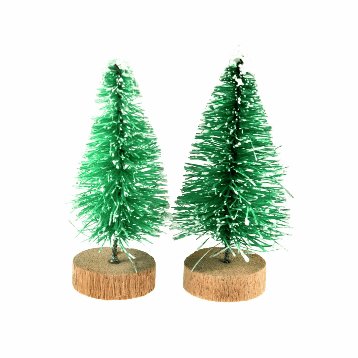 Picture of Decoration: Mini Frosted Christmas Tree: 5cm: 2 Pieces