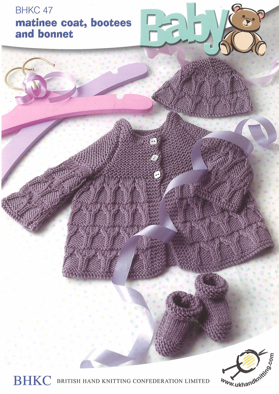 Picture of Pattern: Matinee Coat, Bootees and Bonnet