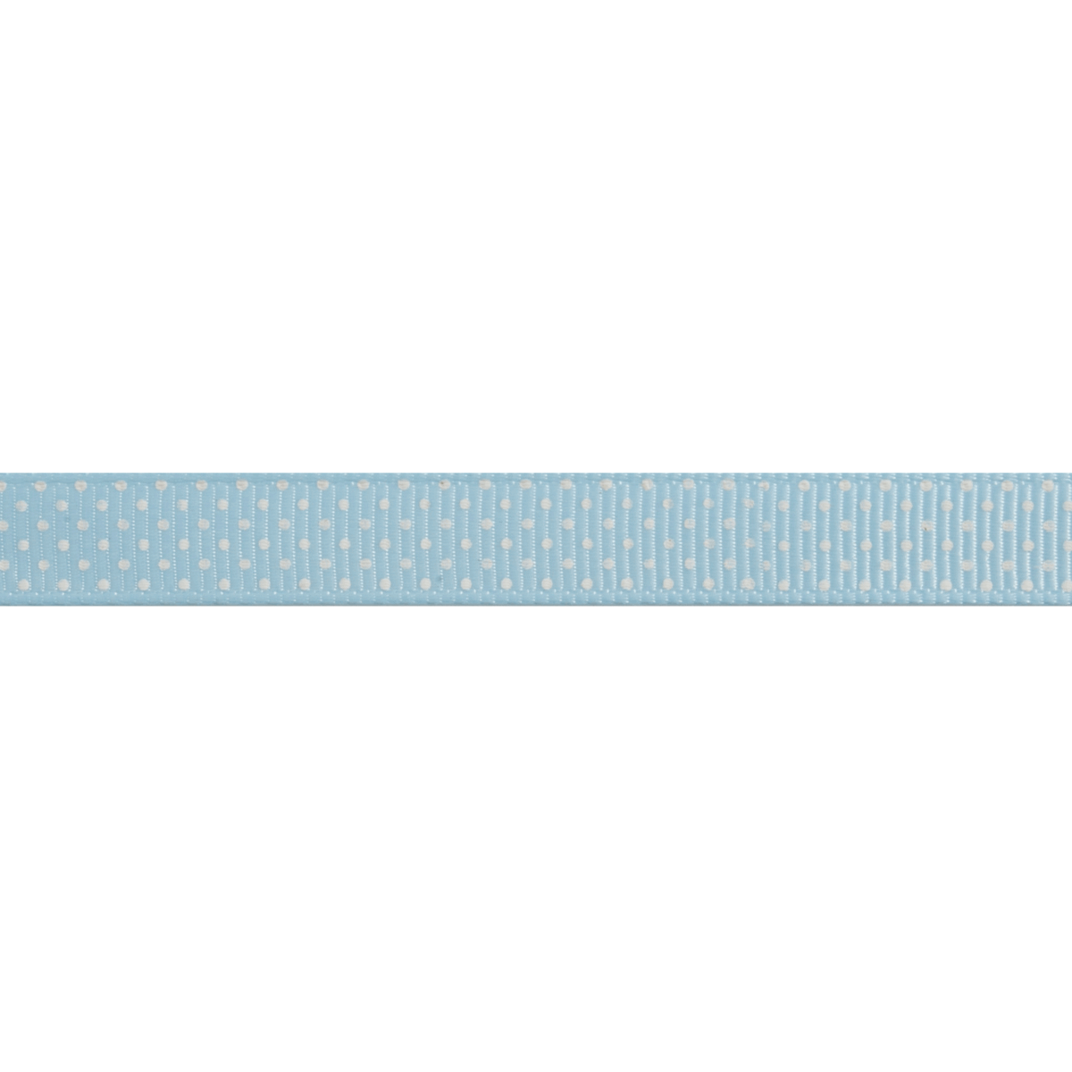 Picture of Grosgrain: Small Polka Dot: Blue: 5m x 10mm