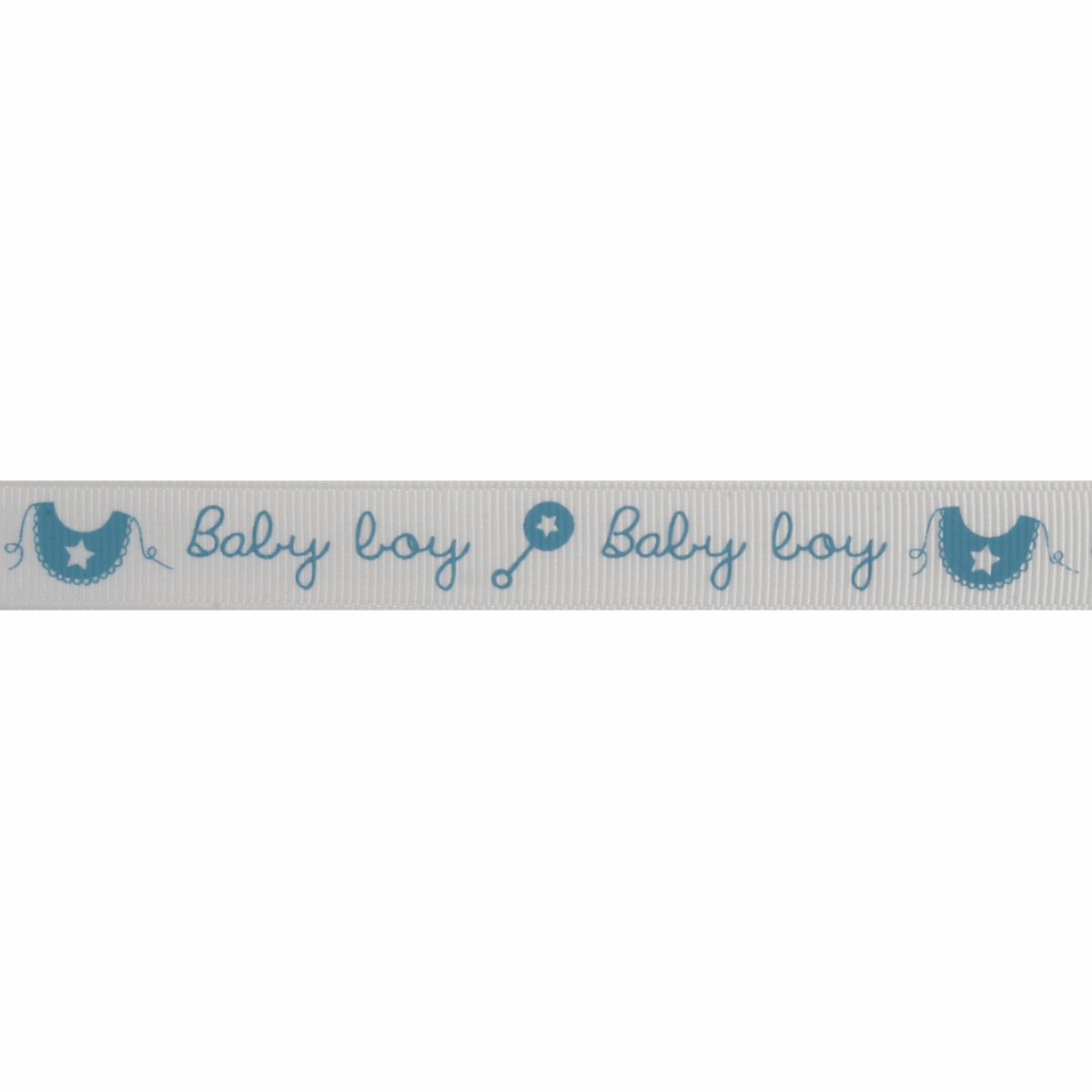Picture of Grosgrain: Baby Boy Rattle & Bib: Blue: 5m x 15mm