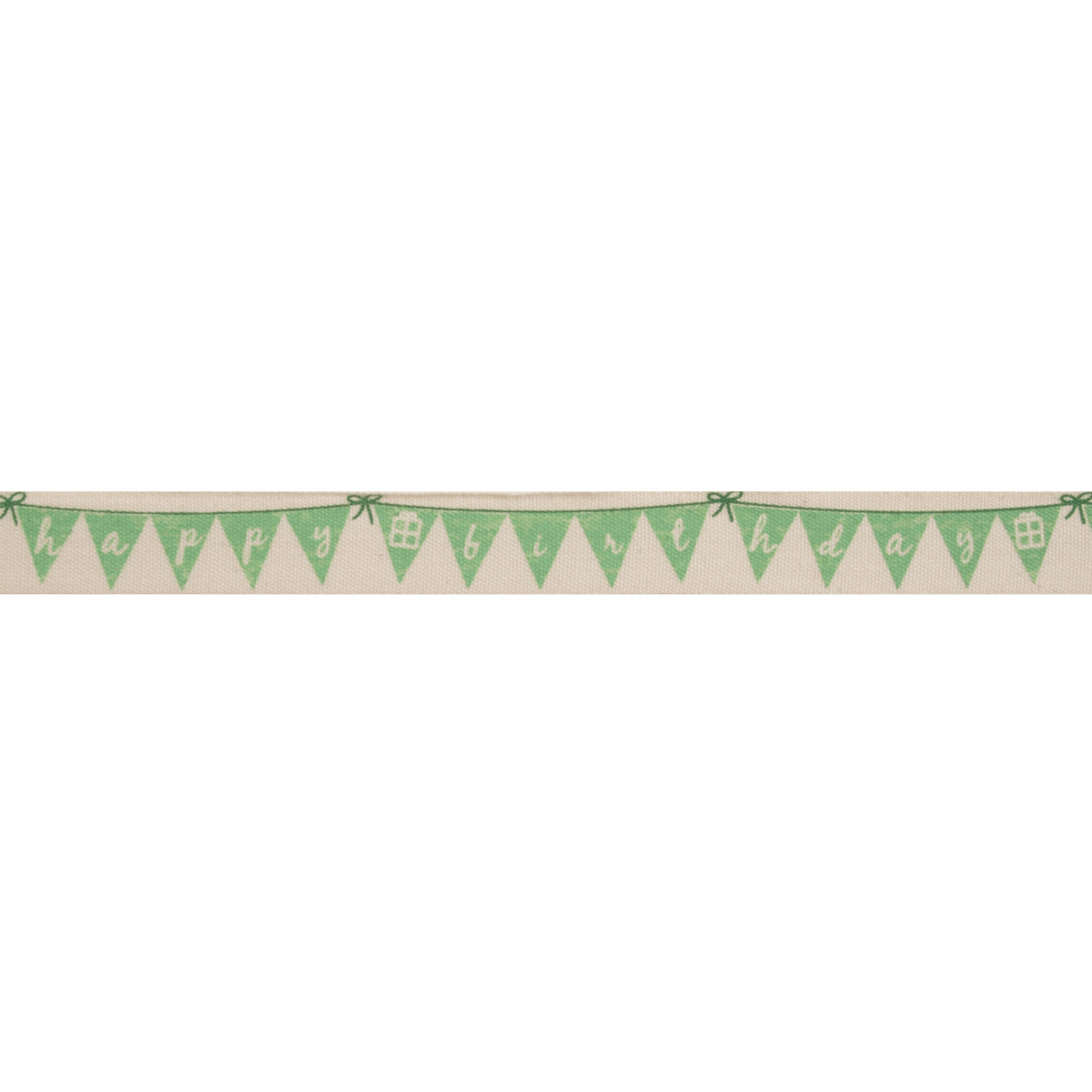 Picture of Natural: Happy Birthday Bunting: Green: 5m x 15mm