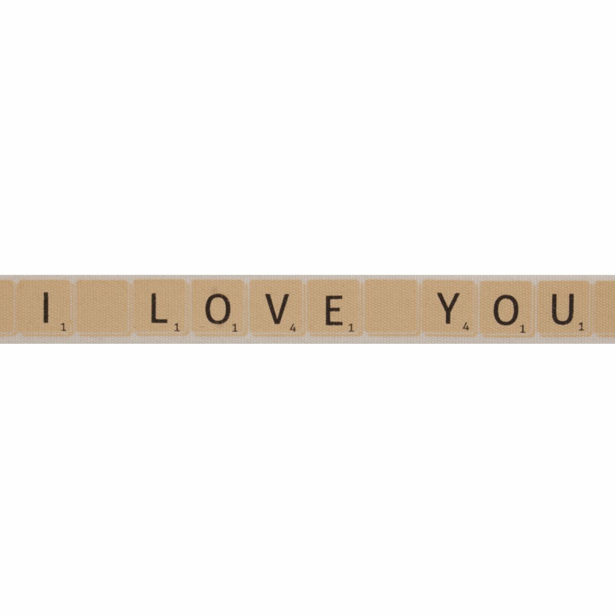 Picture of Natural: I Love You Tiles: Natural: 5m x 15mm