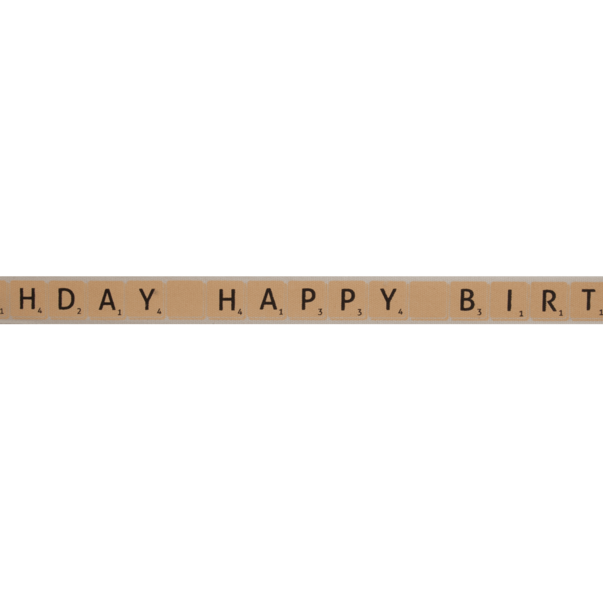 Picture of Natural: Happy Birthday Tiles: Natural: 5m x 15mm