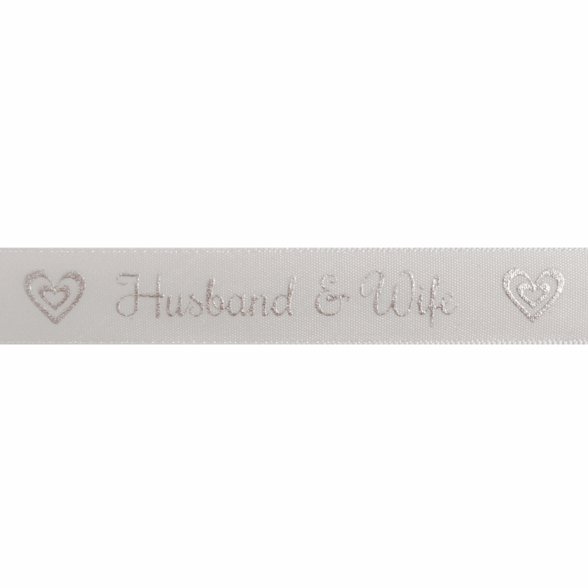 Picture of Satin: Husband and Wife: Silver: 5m x 15mm