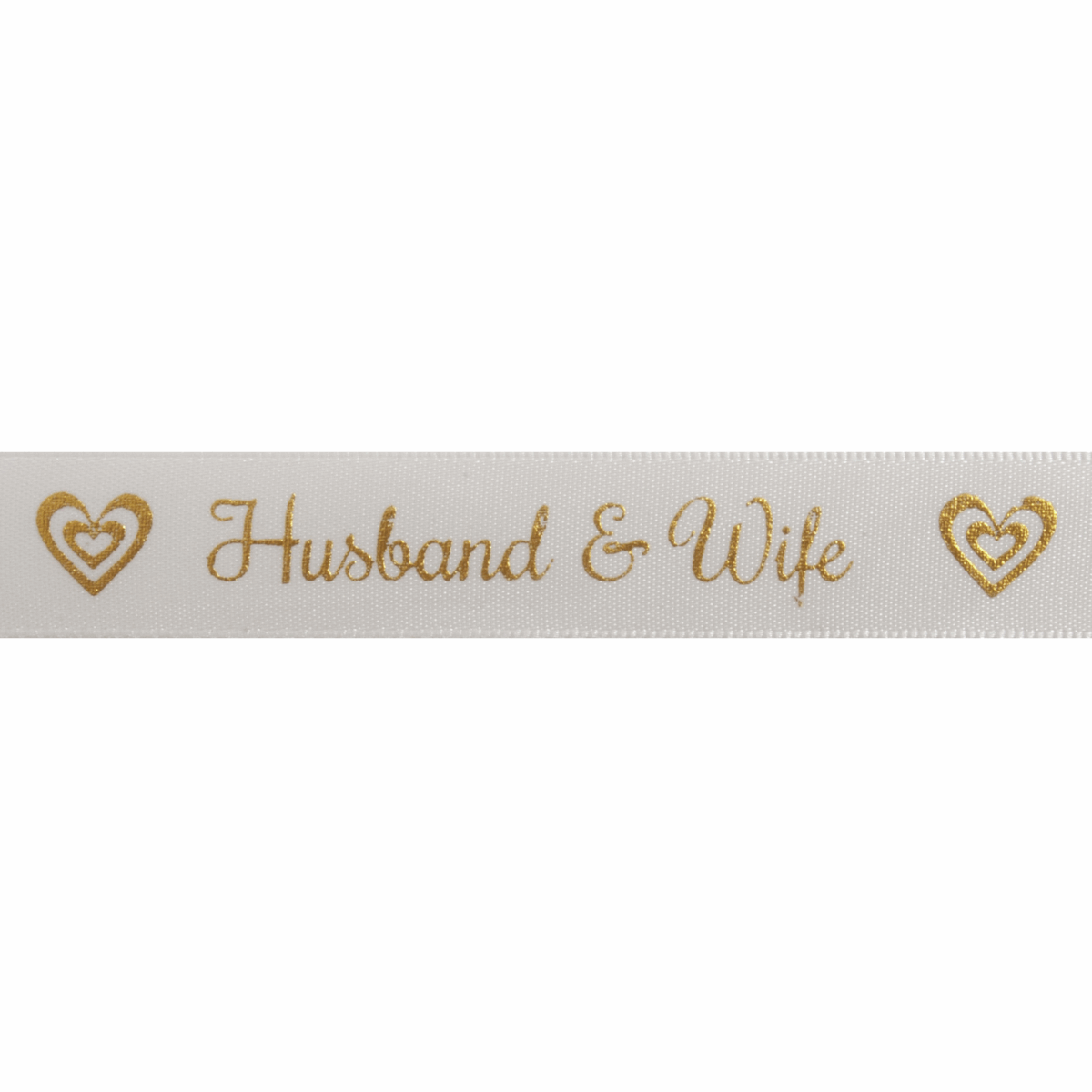 Picture of Satin: Husband and Wife: Gold: 5m x 15mm