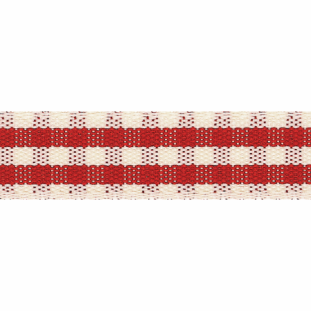 Picture of Rustic Gingham: 4m x 15mm: Red