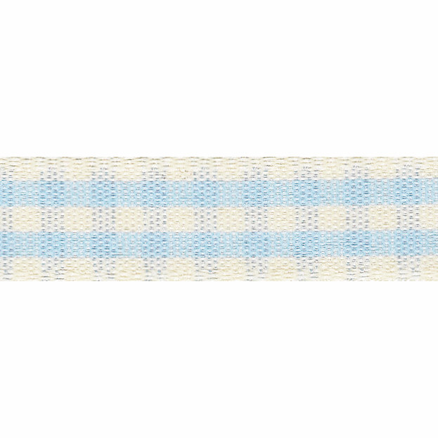 Picture of Rustic Gingham: 4m x 15mm: Sky