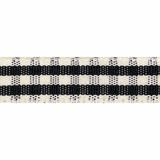 Picture of Rustic Gingham: 3m x 25mm: Black