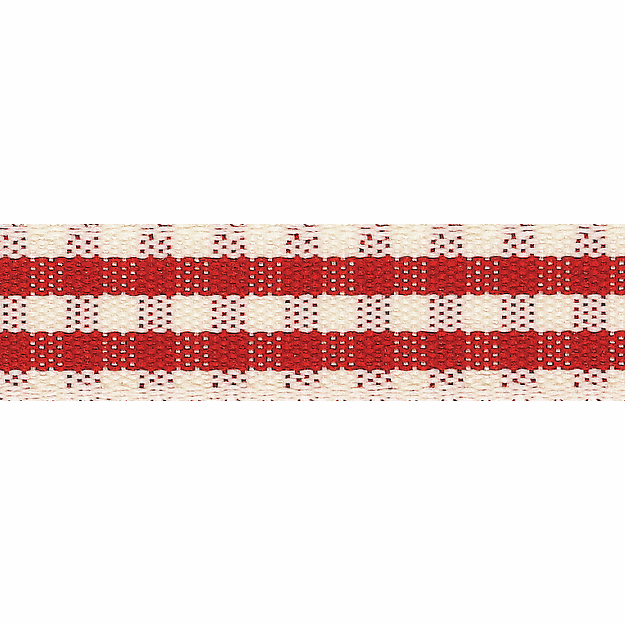 Picture of Rustic Gingham: 3m x 25mm: Red
