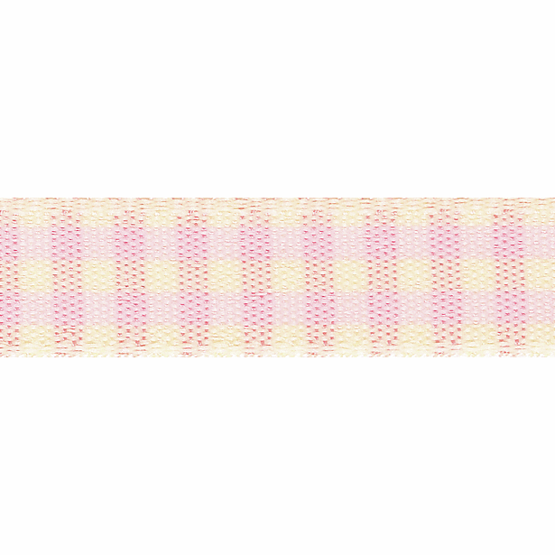 Picture of Rustic Gingham: 3m x 25mm: Pink