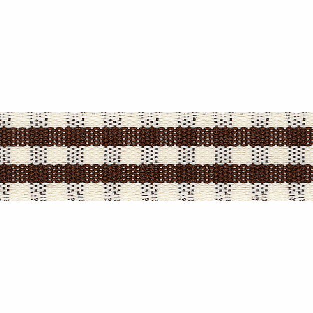 Picture of Rustic Gingham: 3m x 25mm: Brown