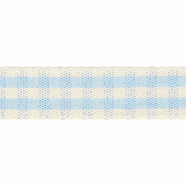 Picture of Rustic Gingham: 3m x 25mm: Sky