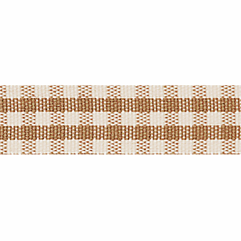 Picture of Rustic Gingham: 3m x 25mm: Oatmeal