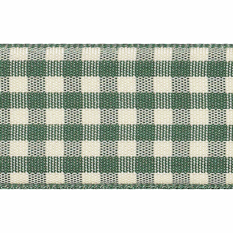 Picture of Natural Gingham: 4m x 10mm: Green
