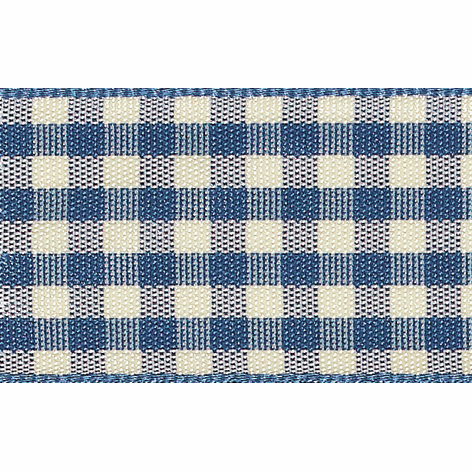Picture of Natural Gingham: 4m x 10mm: Blue