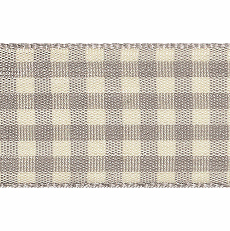 Picture of Natural Gingham: 4m x 10mm: Grey