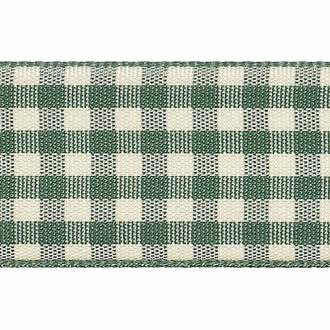 Picture of Natural Gingham: 4m x 15mm: Green