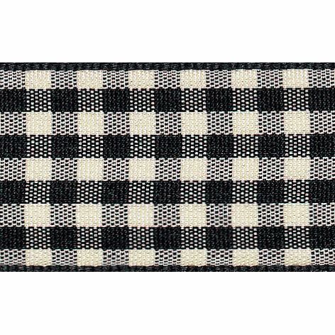 Picture of Natural Gingham: 4m x 15mm: Black