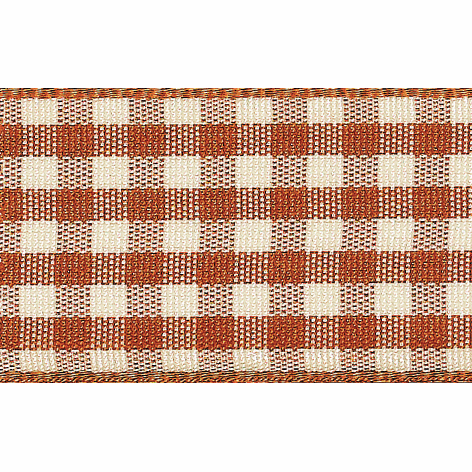 Picture of Natural Gingham: 4m x 15mm: Copper