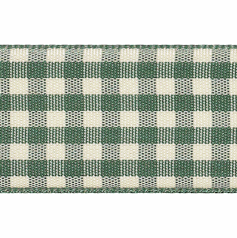 Picture of Natural Gingham: 3m x 25mm: Green