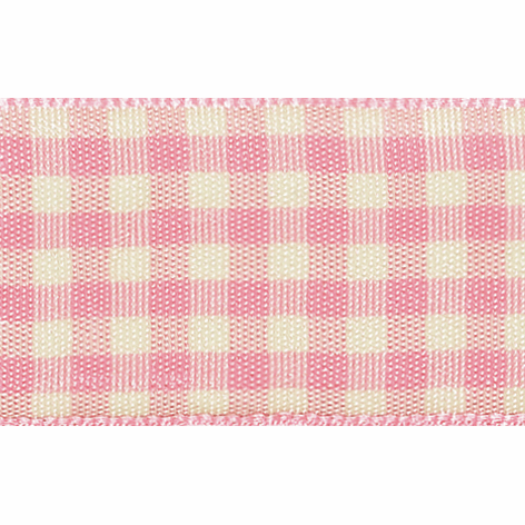 Picture of Natural Gingham: 3m x 25mm: Pink