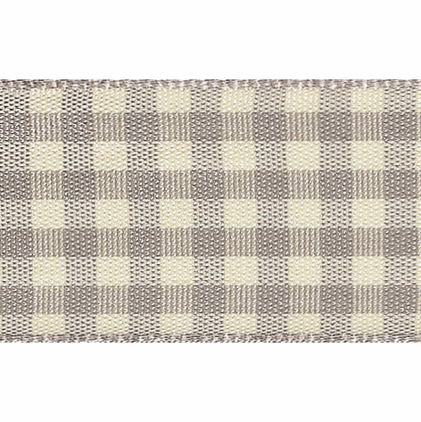 Picture of Natural Gingham: 3m x 25mm: Grey