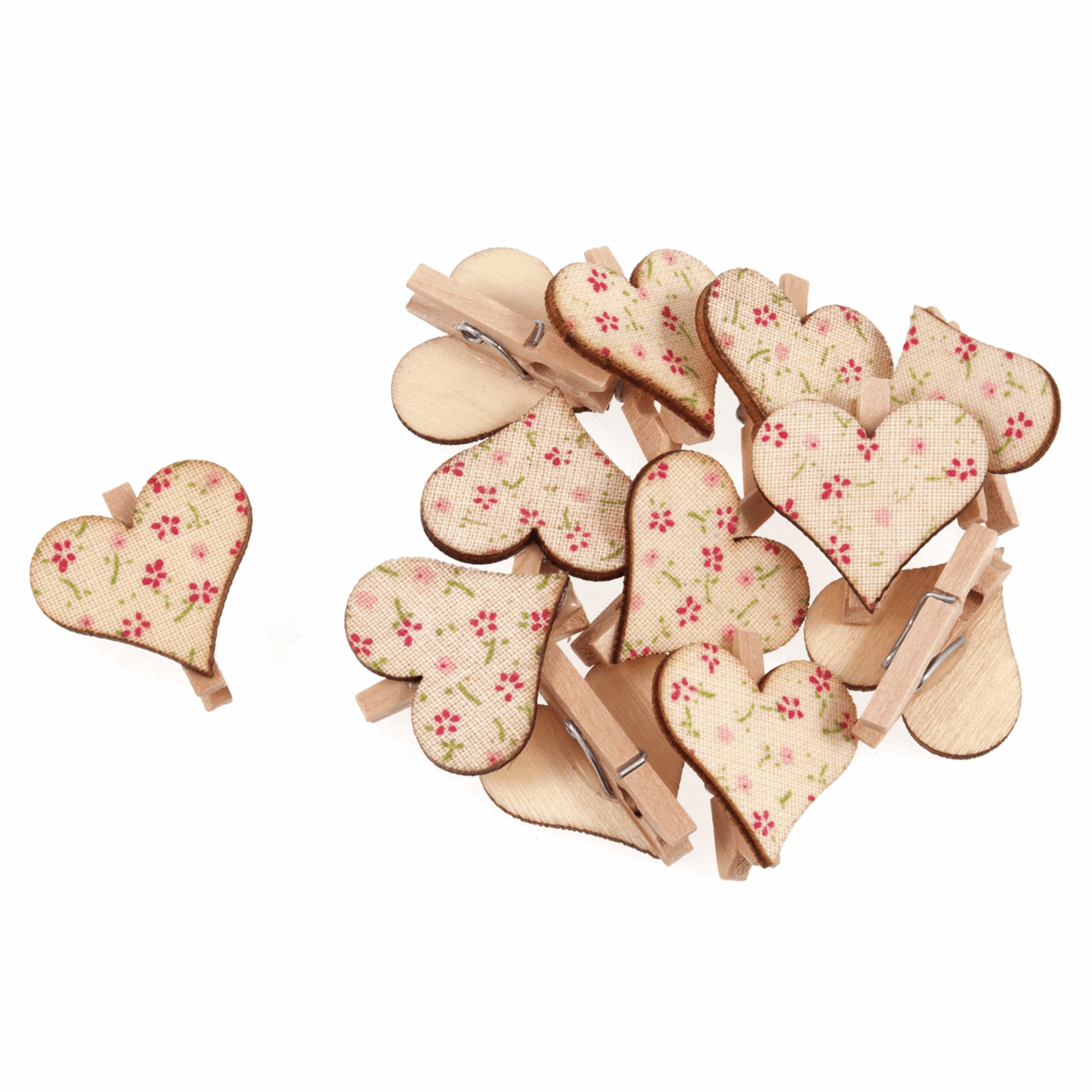 Picture of Pegs: Floral Heart: Pack of 12