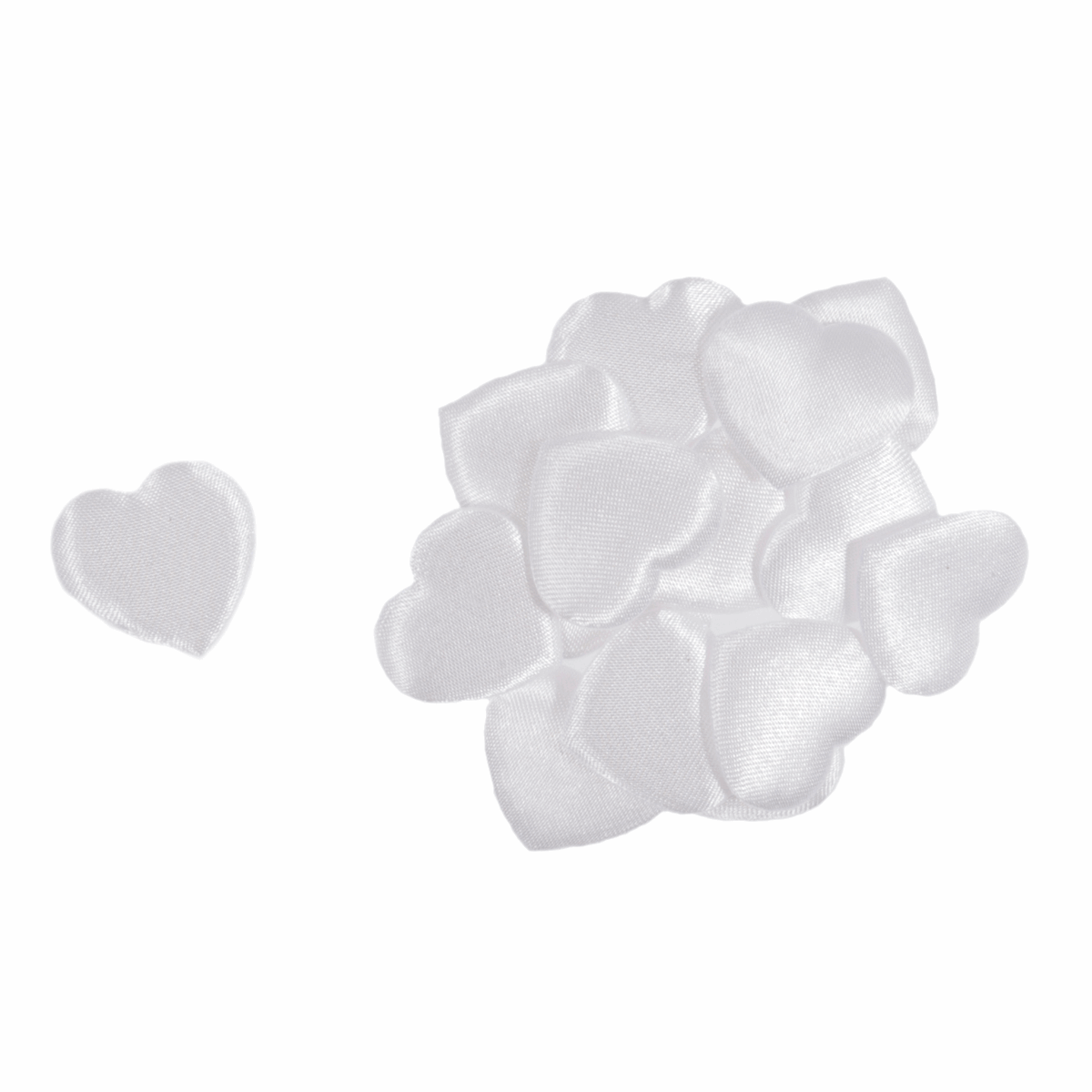 Picture of Hearts: Padded: 2cm: White: Pack of 15