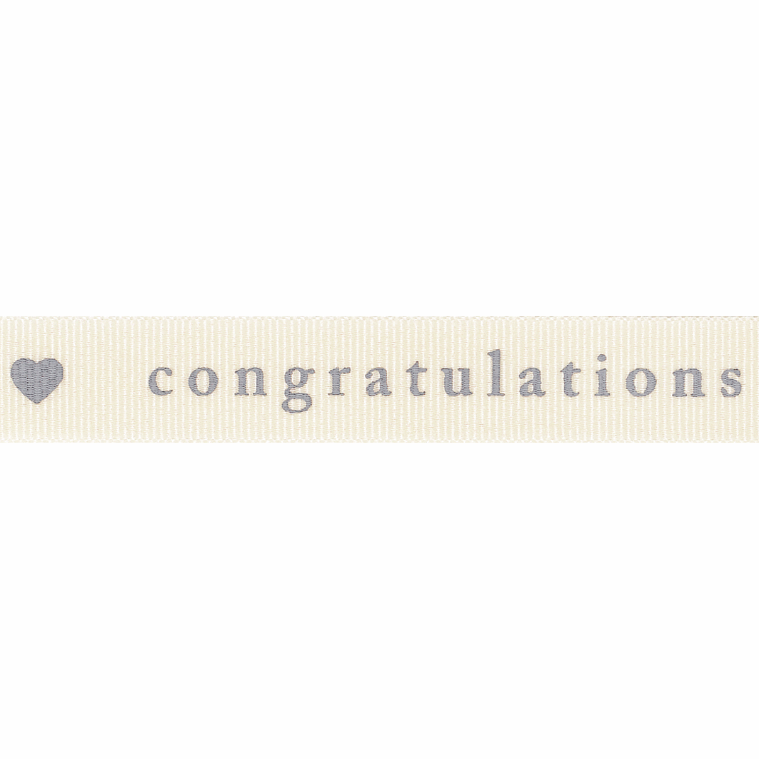 Picture of Congratulations: 4m x 15mm: Natural/Grey
