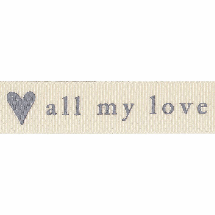 Picture of All My Love: 4m x 15mm: Natural/Grey