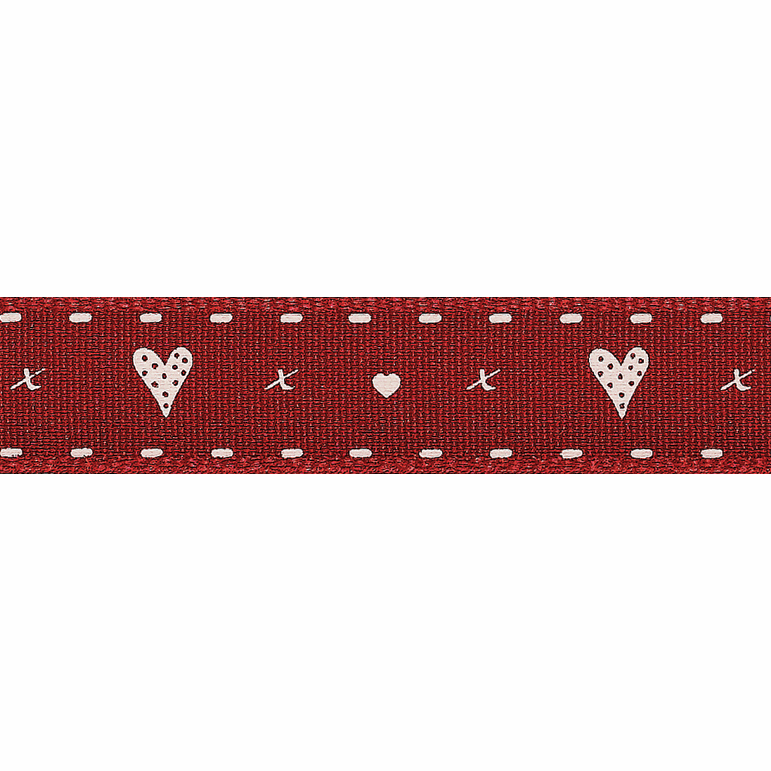 Picture of Hearts & Kisses: 4m x 15mm: Red