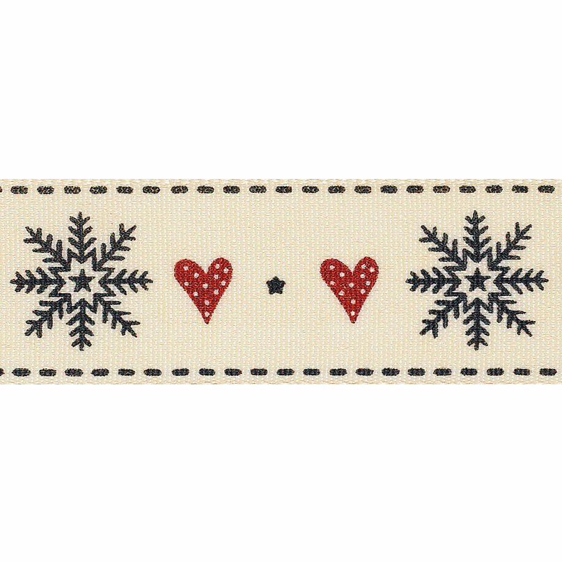 Picture of Snowflake Stitch: 3m x 25mm: Red/Black