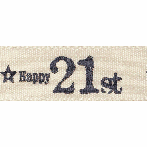 Picture of Special Birthday: 4m x 15mm: Charcoal 21st