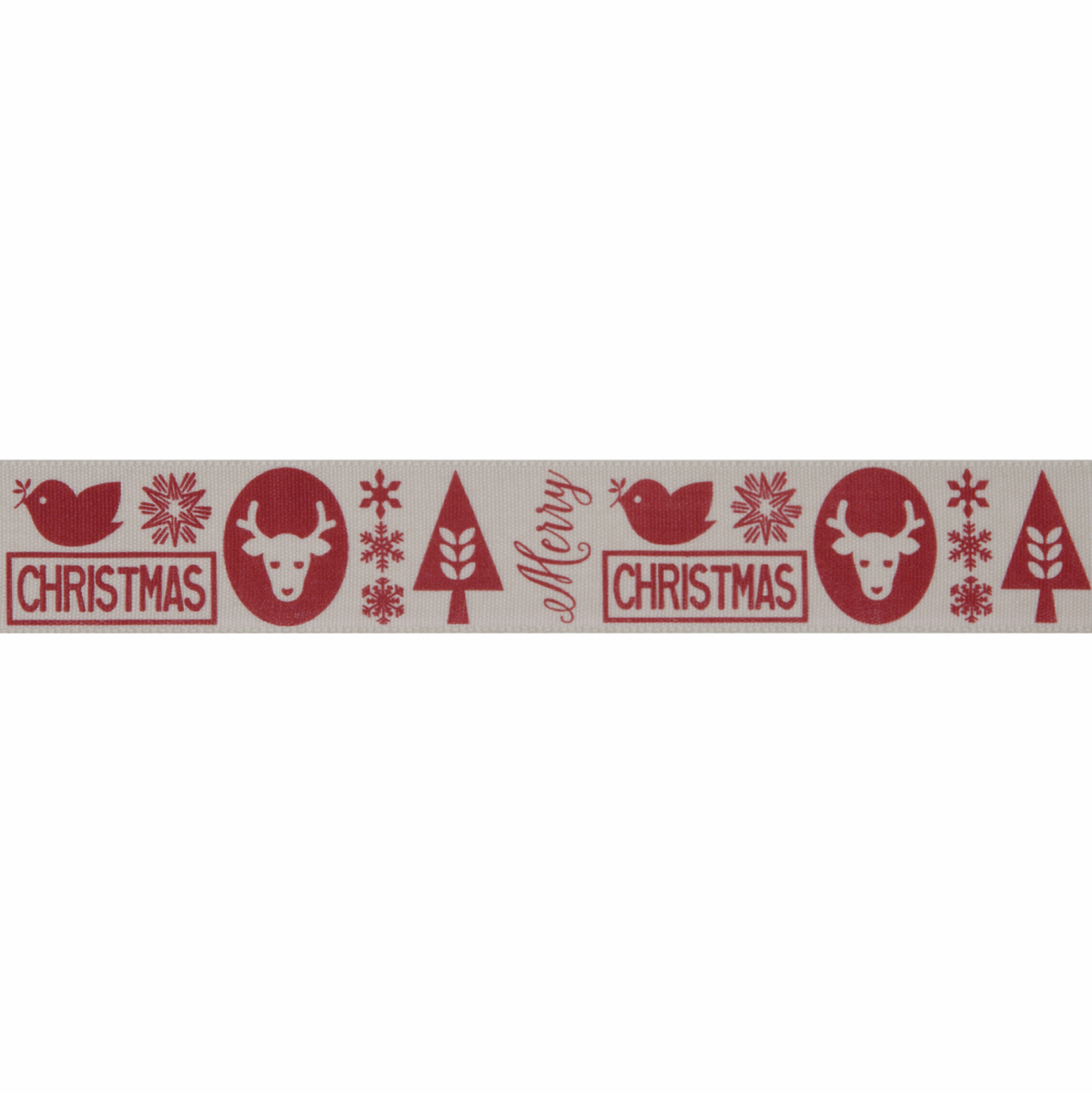 Picture of Christmas Motif: 3m x 25mm: Red