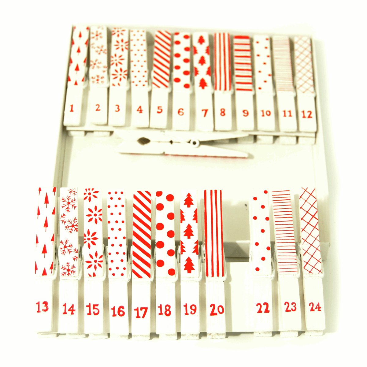 Picture of Craft Embellishment: Pegs: Advent Set: Pack of 24
