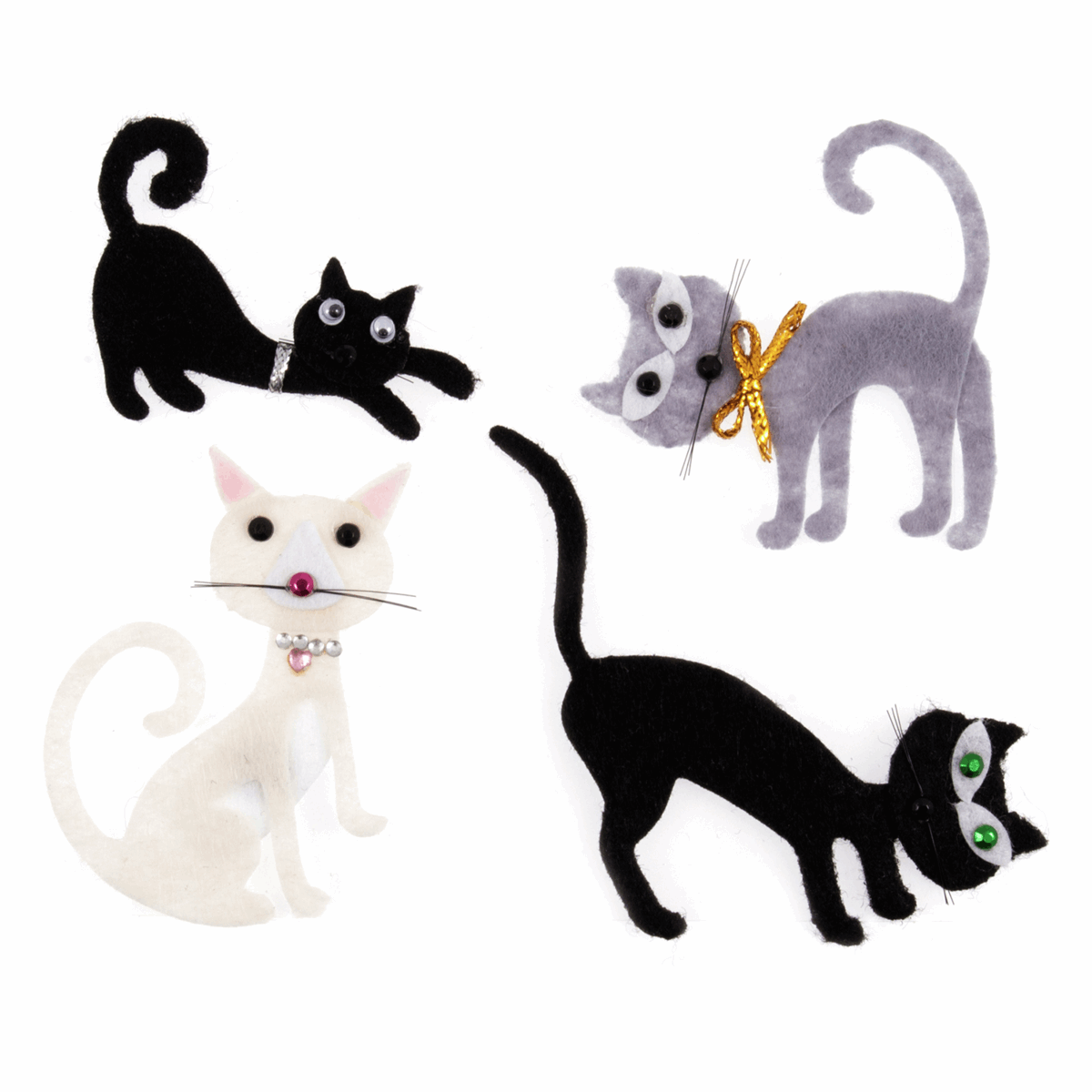 Picture of Craft Embellishments: Cats: Pack of 4