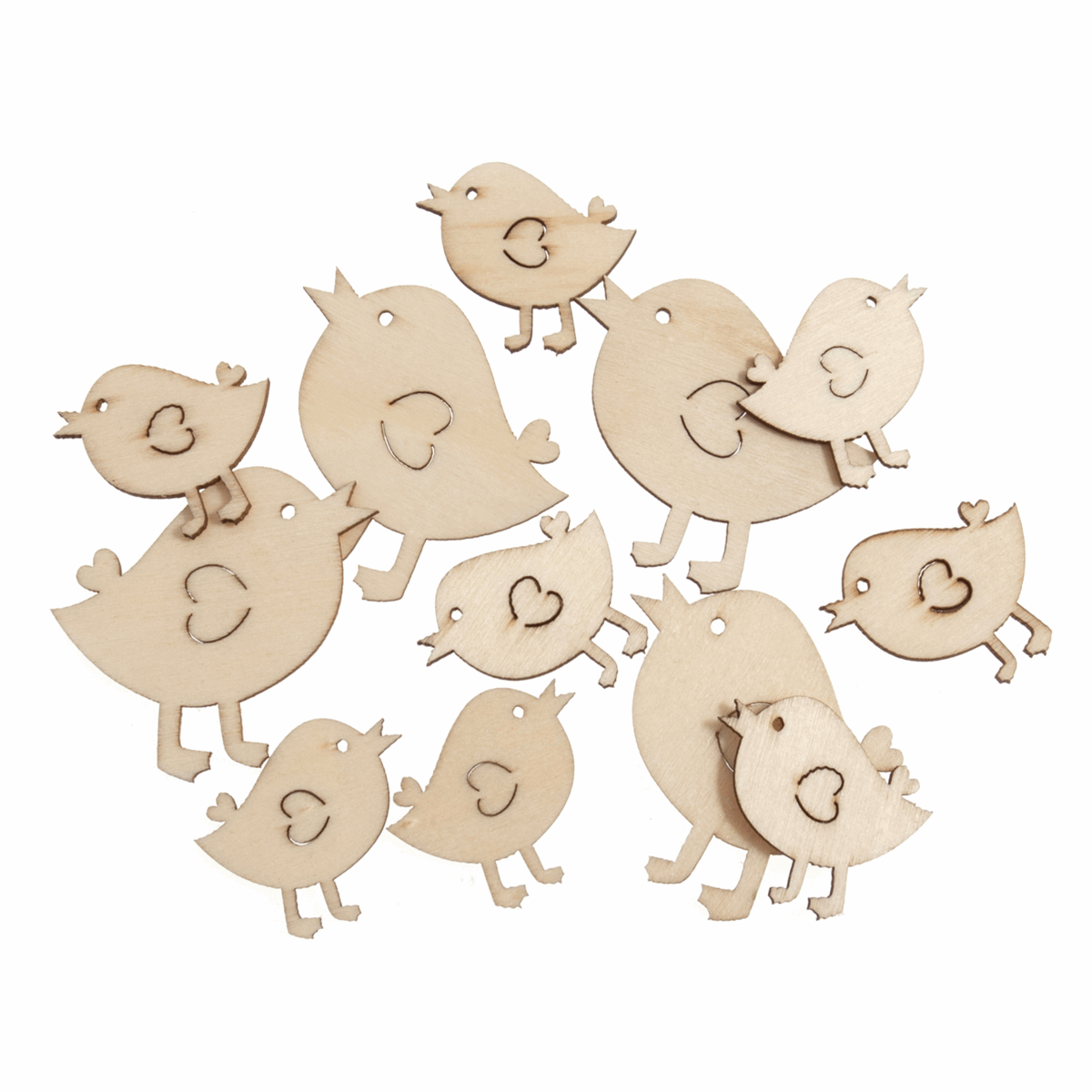Picture of Craft Embellishments: Natural Birds: Pack of 12