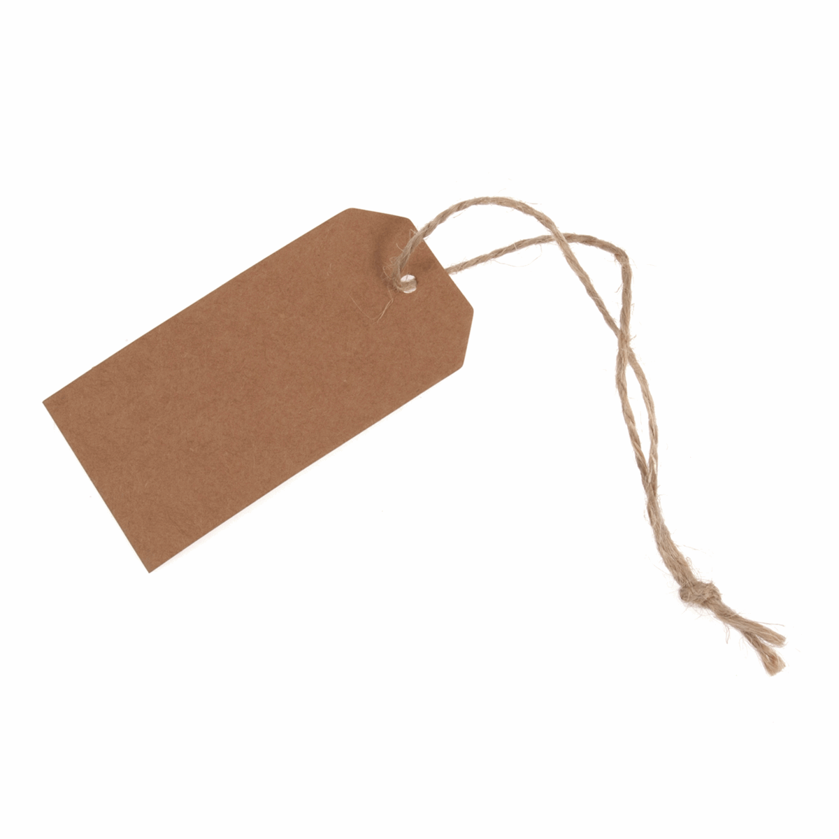 Picture of Tags: Scalloped: Rectangle: 39 x 70mm: Natural: Pack of 12