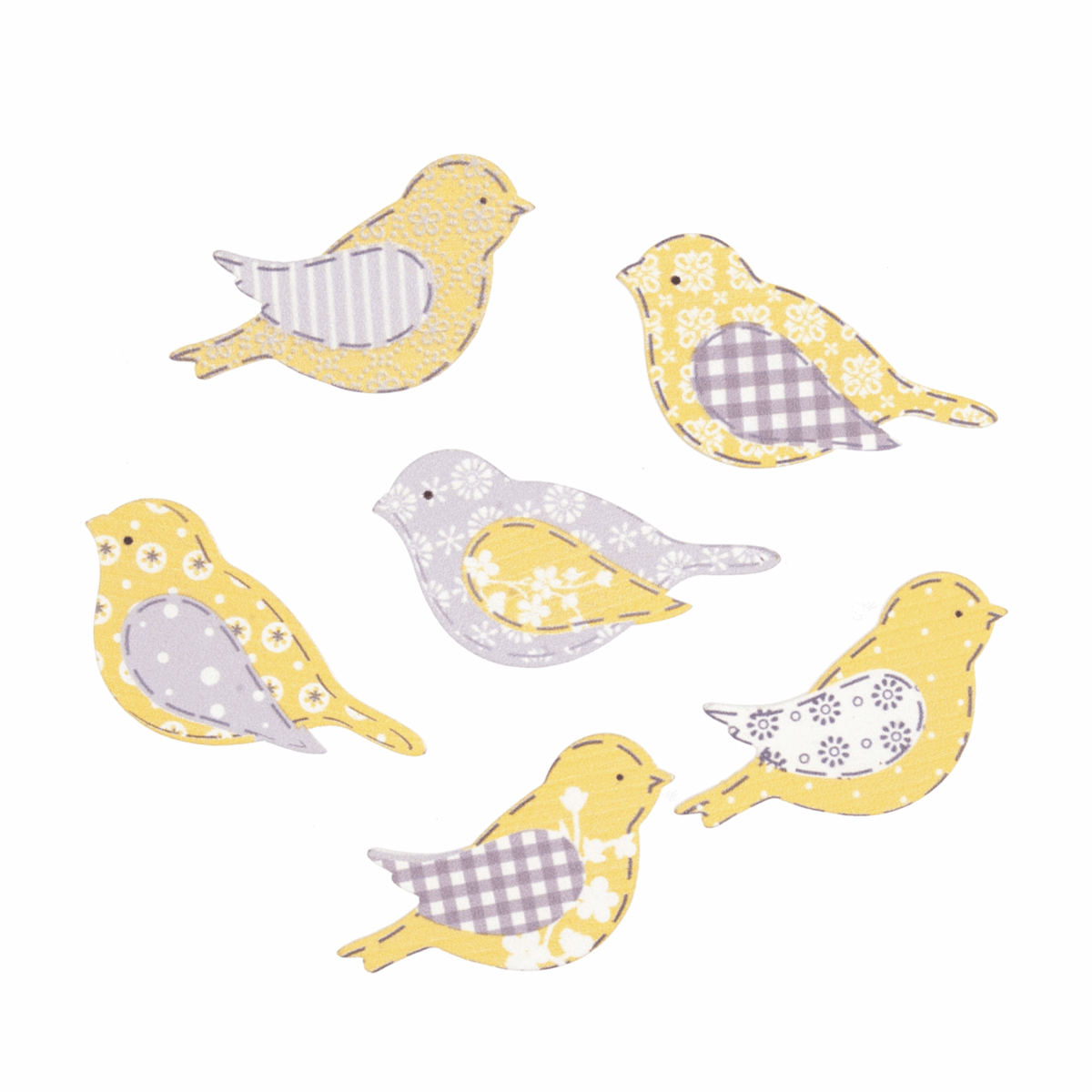 Picture of Craft Embellishments: Assorted Birds: Pack of 6