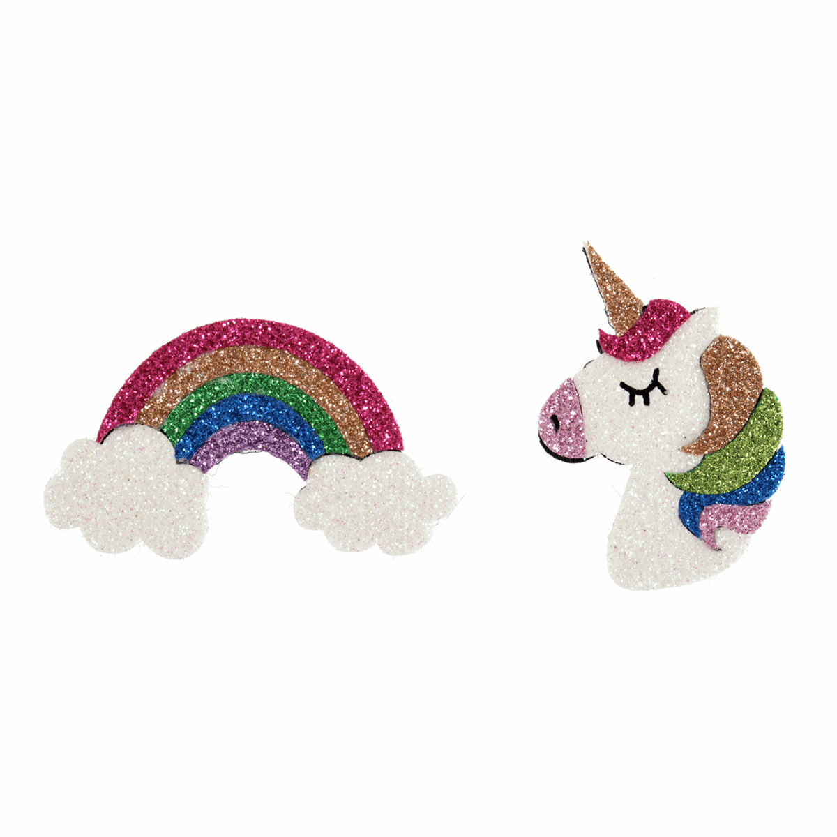 Picture of Embellishments: Felt Unicorn and Rainbow: Pack of 2
