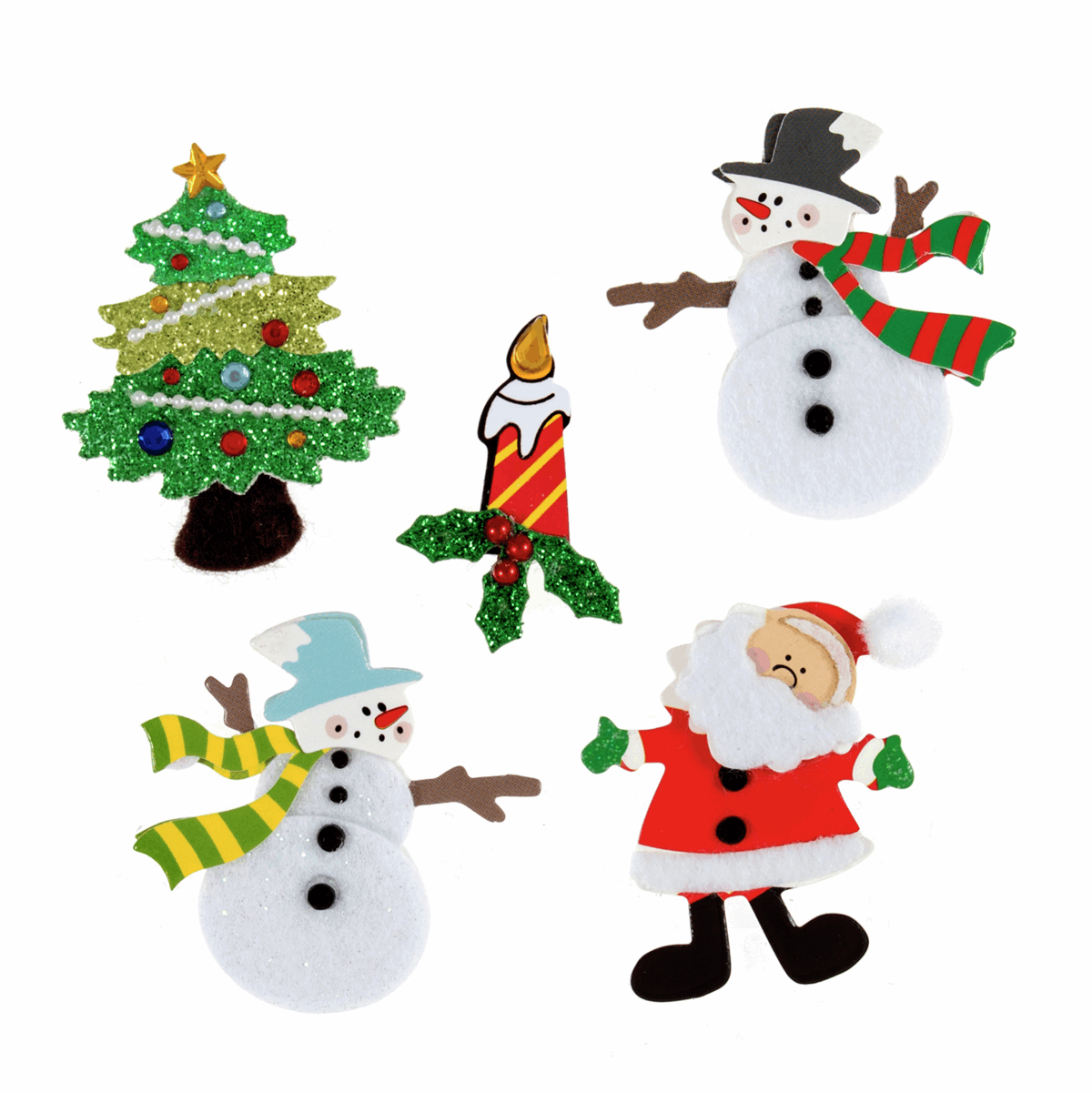 Picture of Craft Embellishments: Assorted Christmas: 5 Pieces