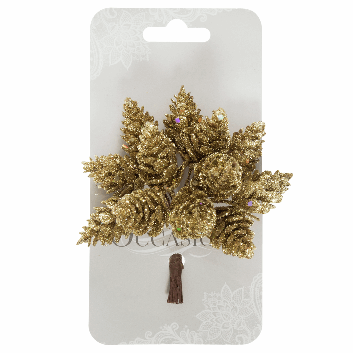 Picture of Pinecones: Glitter: 12 x 12 Stems: Gold