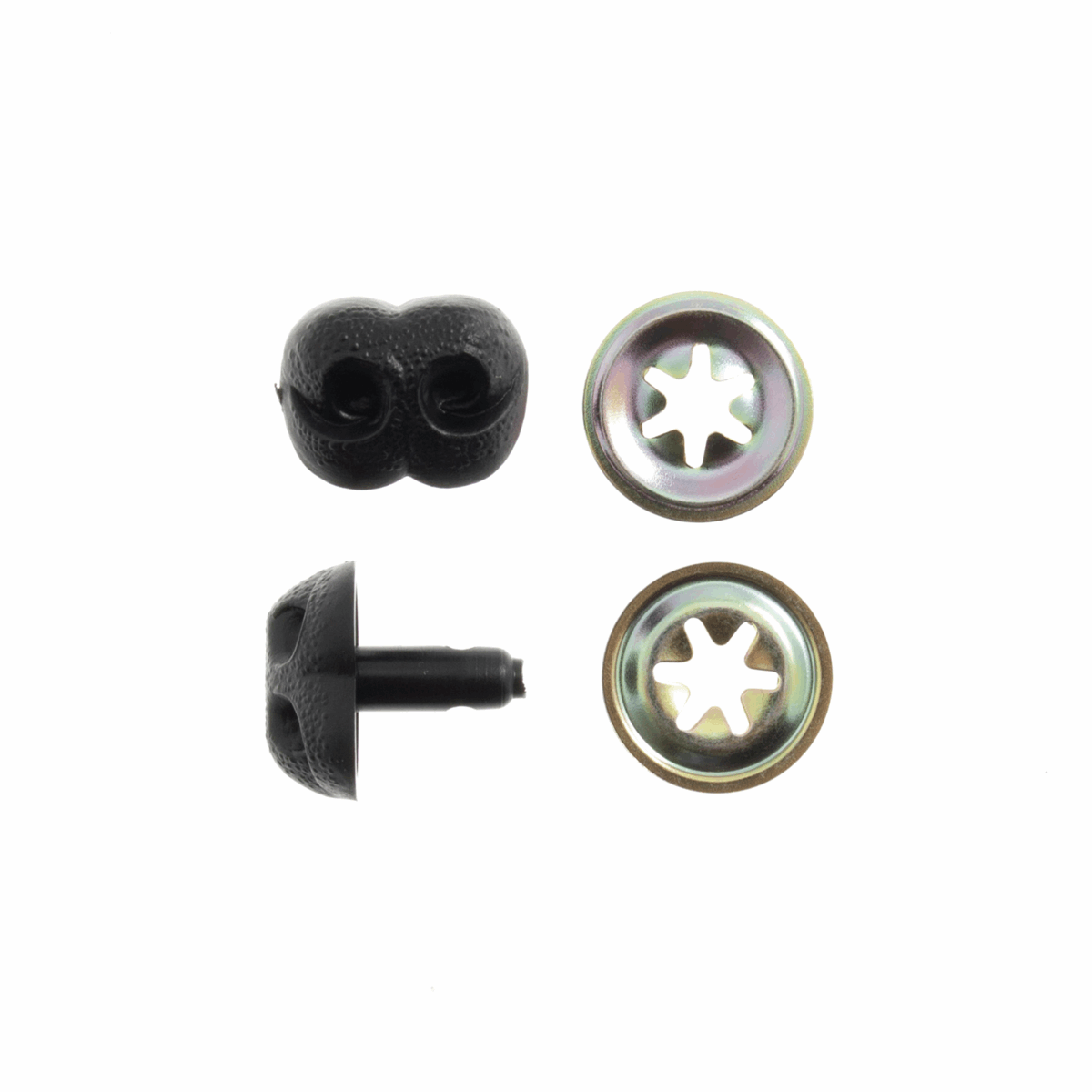 Picture of Toy Noses: Animal/Dog: 12mm: Black: 4 Pack