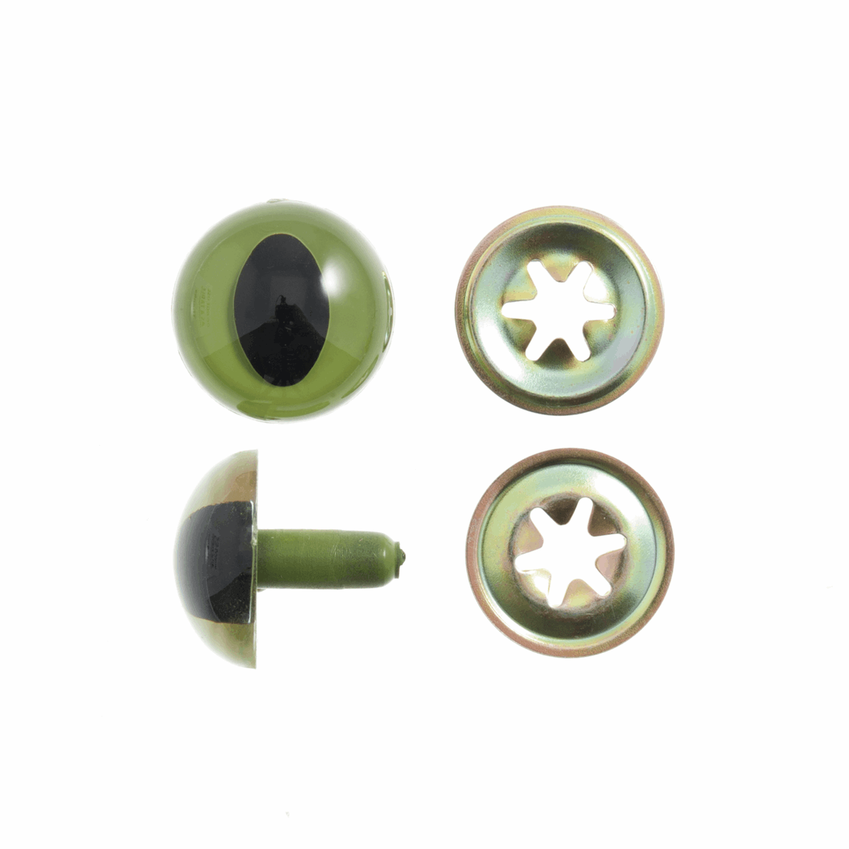 Picture of Toy Eyes: Safety: Cats: 15mm: 4 Pack