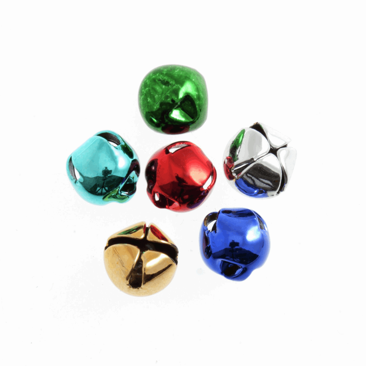 Picture of Bells: Jingle: 10mm: Assorted: 6 Pack