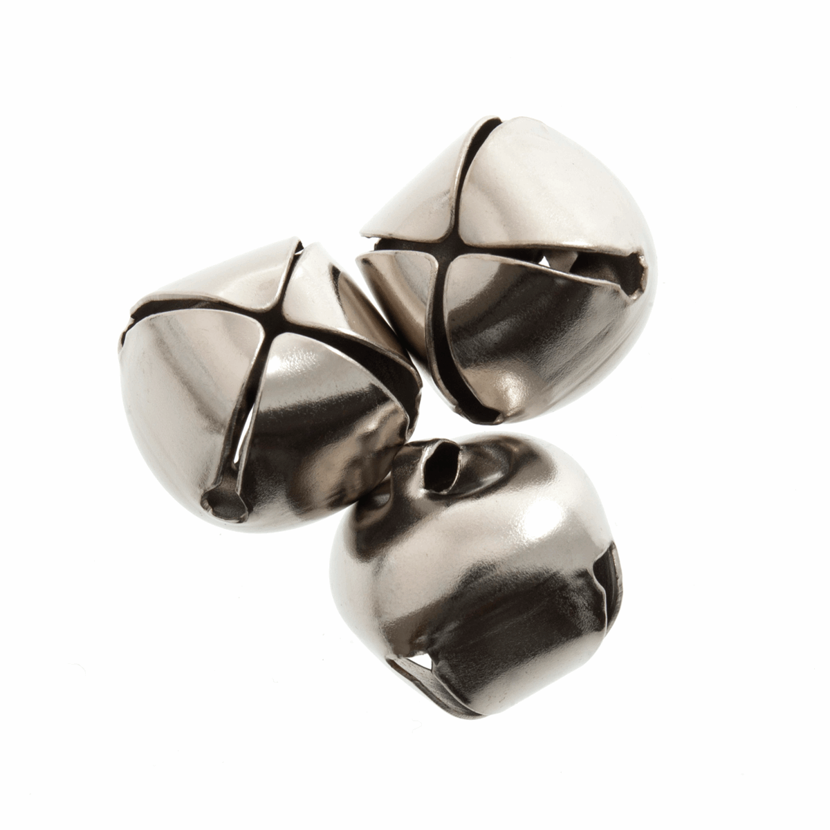 Picture of Bells: Jingle: 15mm: Silver: 4 Pack